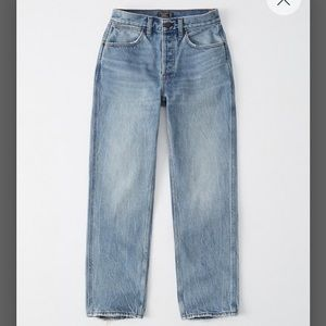 High Rise Ankle Straight Jean